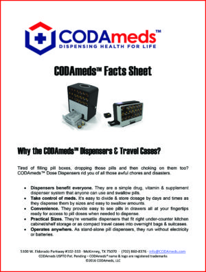 CODAmeds Media Ad Kit - CODAmeds Fact Sheet-1